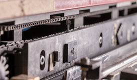 Closeup part of an industrial machine Royalty Free Stock Image