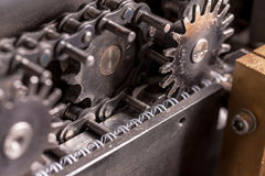 Closeup part of an industrial machine Royalty Free Stock Photography