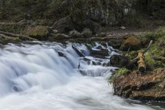 Willow River Waterfall. A closeup of part of a large waterfall Royalty Free Stock Photography