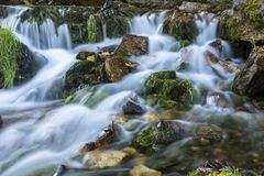 Willow River Waterfall. A closeup of part of a large waterfall Stock Image