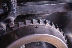 Closeup part of an old machine Stock Photo