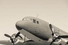 Closeup part retro plane of beige tone Stock Image