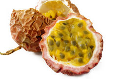 Closeup passionfruit Stock Photography