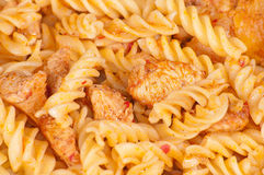 Pasta with meat Stock Images