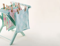 Closeup of pastel color laundry with copy space Royalty Free Stock Photography