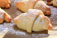Closeup of pastry just out of the oven Stock Image