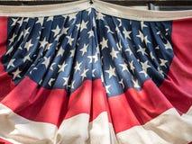 Closeup of Patriotic Bunting Royalty Free Stock Image