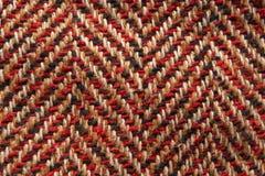 Closeup pattern of wool texture material. Macro herringbone pattern of wool texture material stock photos
