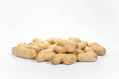 Closeup Peanuts. On white background Stock Photography