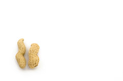 Closeup of Peanuts. On white background Royalty Free Stock Images