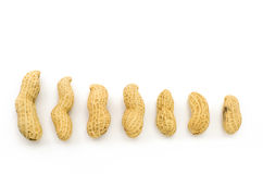 Closeup of Peanuts. On white background Royalty Free Stock Photo
