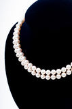 Closeup of the Pearl necklace Royalty Free Stock Photos