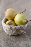 Closeup of pears Royalty Free Stock Image