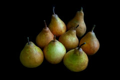 Closeup of pears for stewing on a black background Royalty Free Stock Photo