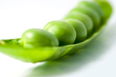 Closeup peas Stock Images