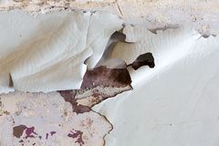 Closeup of peeling painted wall.  Stock Image