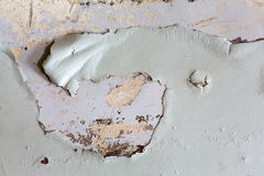 Closeup of peeling painted wall.  Royalty Free Stock Photo