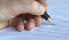 Closeup of a pencil on a writing pad Royalty Free Stock Photo