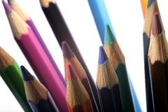 Closeup pencils Royalty Free Stock Photos