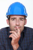 Closeup of a pensive man Stock Images