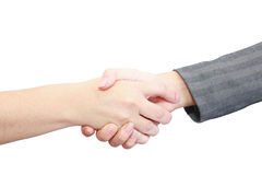 Closeup of people shaking hands Royalty Free Stock Photography