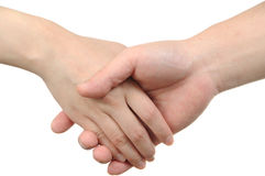 Closeup of people shaking hands Stock Photography