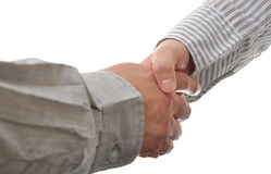 Closeup of people shaking hands Stock Images