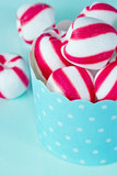 Closeup of peppermint candy Stock Photography