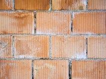 Closeup of perforated clay blocks wall Royalty Free Stock Image