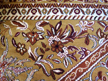 Closeup of Persian carpets. With abstract drawings Royalty Free Stock Photo