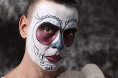 Bride with a mexican calaveras makeup Stock Images