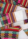 Closeup peruvian textil. Authentic colorfull peruvian textil close up Royalty Free Stock Image