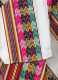 Closeup peruvian textil Stock Photos