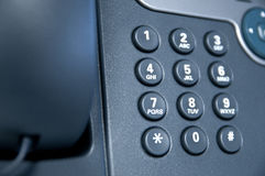 Closeup of phone keys Royalty Free Stock Photo