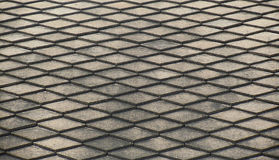 Closeup photo, abstract background, Steel grating texture Royalty Free Stock Photos