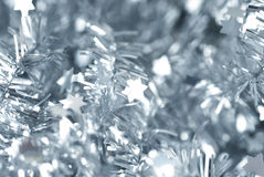 Closeup photo of abstract silver defocused stars Stock Photos