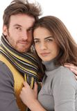 Closeup photo of attractive loving couple Royalty Free Stock Images