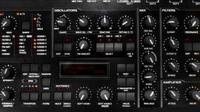 Closeup photo of an audio mixer Royalty Free Stock Images