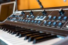 Closeup photo of an audio mixer Royalty Free Stock Photos