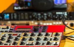 Closeup photo of an audio mixer Royalty Free Stock Photography