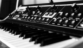 Closeup photo of an audio mixer Stock Photography