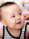 Closeup photo of beautiful cute asian baby expression Stock Photo