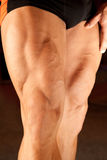 Closeup photo of bodybuilder legs Royalty Free Stock Photos