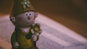 Closeup Photo of Boy Holding Flower Figurine Royalty Free Stock Images