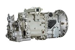 Closeup photo of bus gearbox, with isolated background.  Royalty Free Stock Image