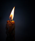 Closeup photo of candle flame Stock Photo