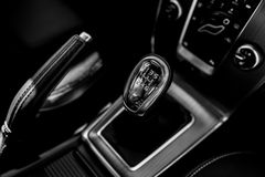 Closeup photo of car gearbox Royalty Free Stock Photo