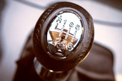 Closeup photo of car interiors in bright light Royalty Free Stock Photo