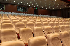 Theatre chairs. Closeup of photo, chairs in a theatre in china Royalty Free Stock Photography