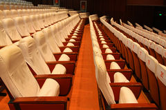 Theatre chairs. Closeup of photo, chairs in a theatre in china Stock Image